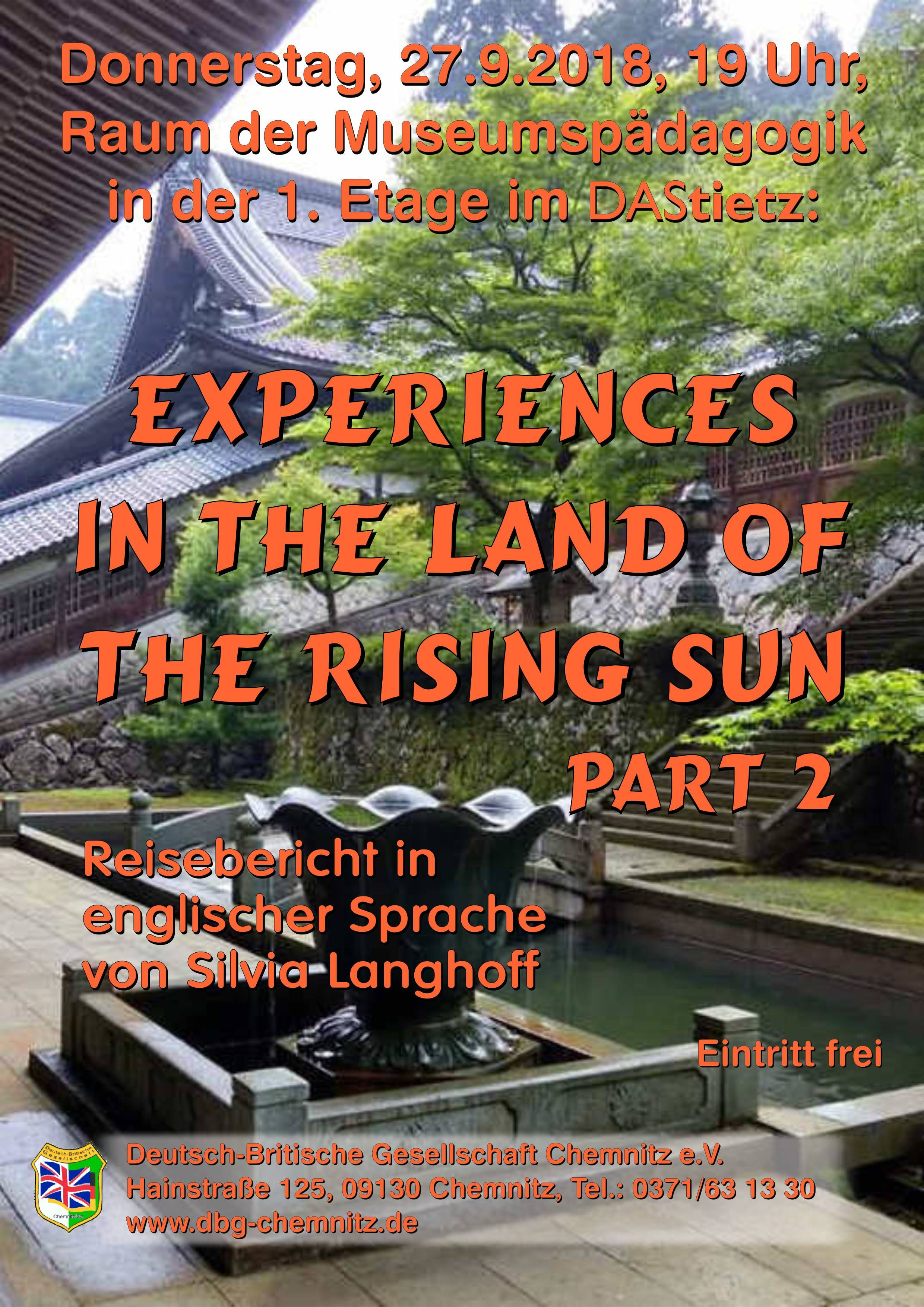 """Experiences in the Land of the Rising Sun, Part 2"""